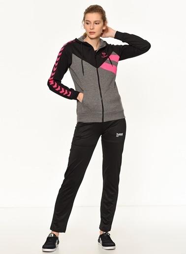Hummel Kapüşonlu Fermuarlı Sweatshirt Siyah